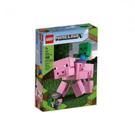 LEGO MINECRAFT BIGFIG PORCO COM BEBÉ ZOMBIE