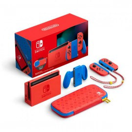 NINTENDO SWITCH CONSOLA V2 32GB MARIO RED & BLUE EDITION