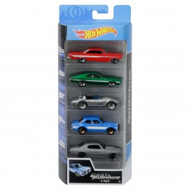 HOT WHEELS PACK 5 CARROS FAST&FURIOUS 2019