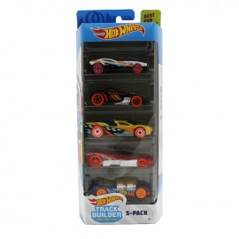 HOT WHEELS PACK 5 CARROS TRACK BUILDER UNLIMITED