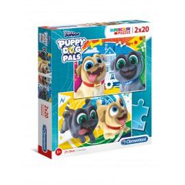 PUZZLE PUPPY DOG PALS 2X20