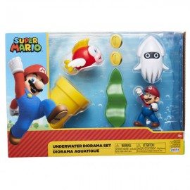 CONJUNTO FIGURAS SUPER MARIO FUNDO DO MAR
