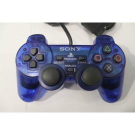 PS2 COMANDO SONY TRANSPARENTE AZUL (USADO)